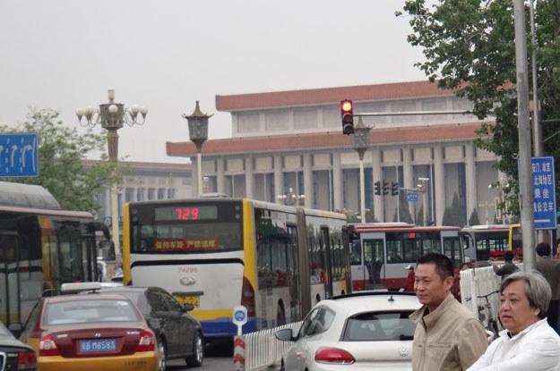 Ulica w pobliżu mauzoleum Ma Ze Donga (dawniej znanego u nas jako Mao Tse Tung) w Pekinie /INTERIA.PL