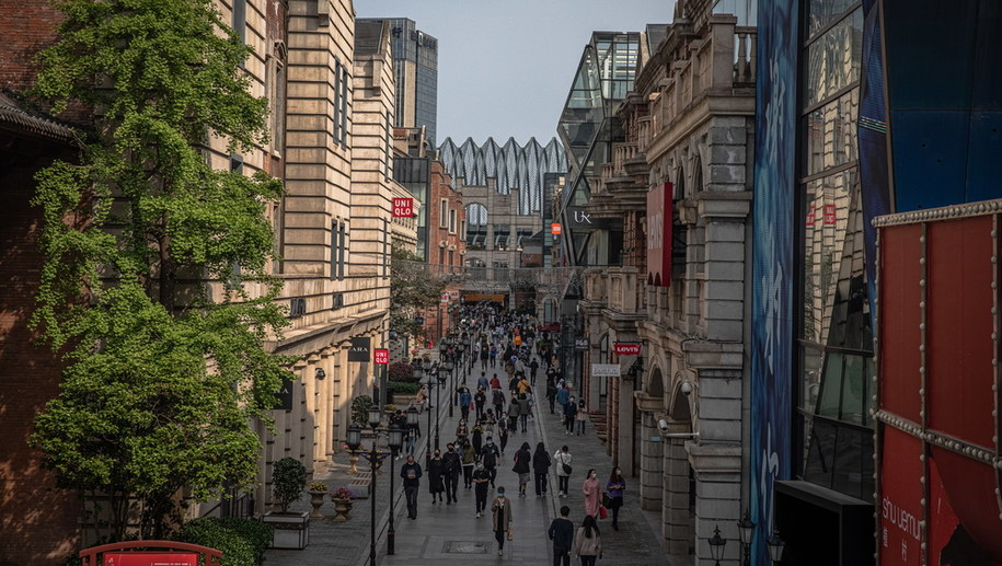 Ulica w Wuhan /ROMAN PILIPEY /PAP/EPA