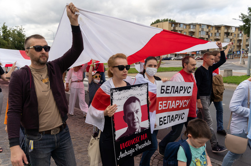 Ulicami Białegostoku przeszedł marsz solidarności z Białorusią / Anatol Chomicz  /Agencja FORUM