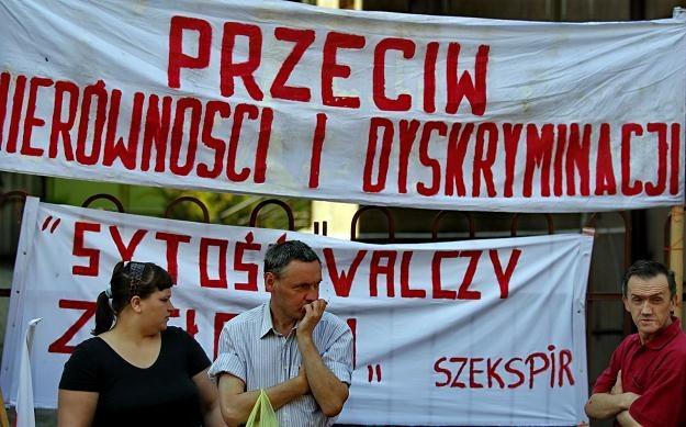 Ulicami Katowic przeszedł marsz w obronie wykluczonych/fot. Andrzej Grygiel /PAP