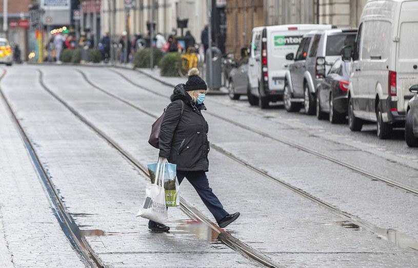 Ulice Dublina w grudniu 2020 /PAUL FAITH/AFP /AFP