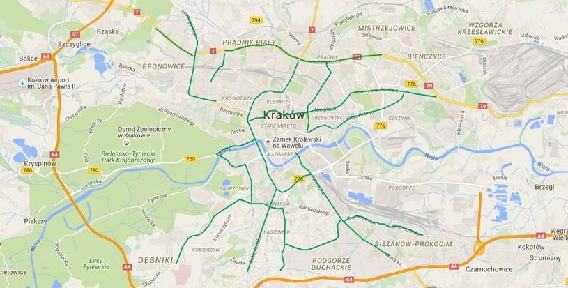 Ulice, gdzie podczas ŚDM przewidywany jest wzmożony ruch pieszych /sdminformacjadrogowa.pl /