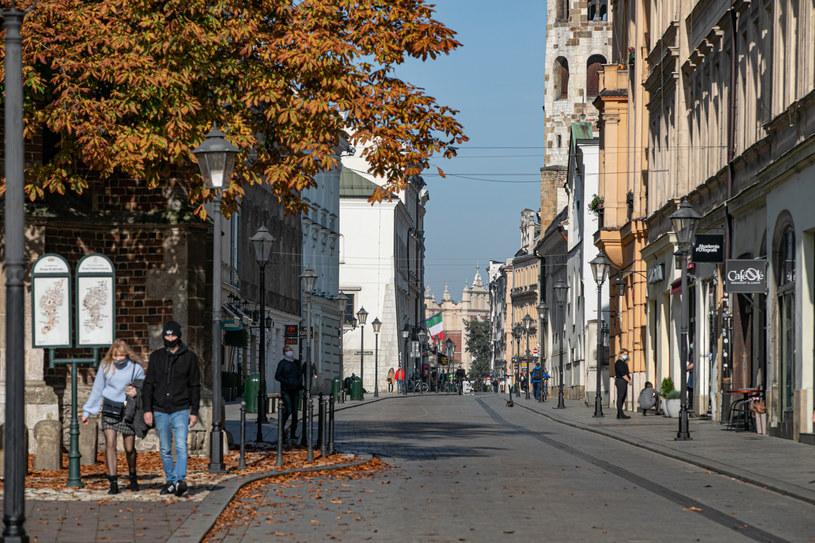 Ulice polskich miast znów wyraźnie opustoszały /Fot. Anna Kaczmarz/Dziennik Polski/ Polska Press /East News