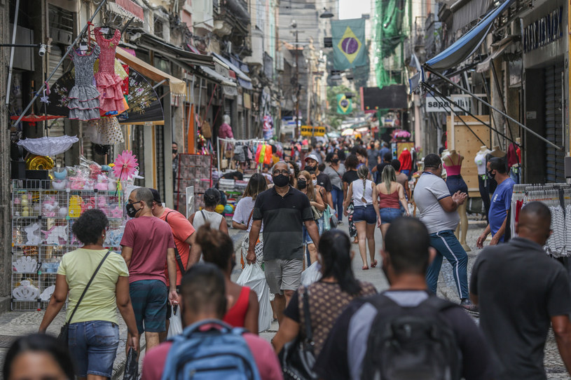 Ulice Rio de Janeiro w czasie epidemii /Andre Coelho /Getty Images
