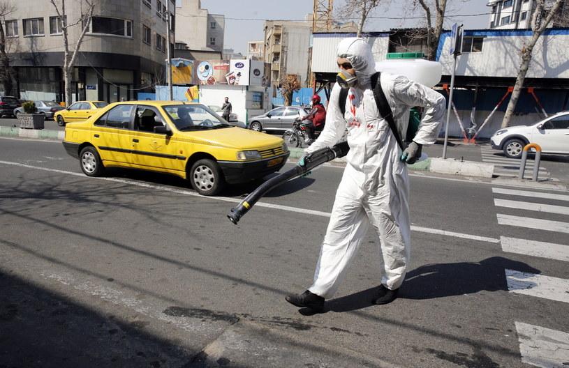 Ulice Teheranu /Abedin Taherkenareh   /PAP/EPA