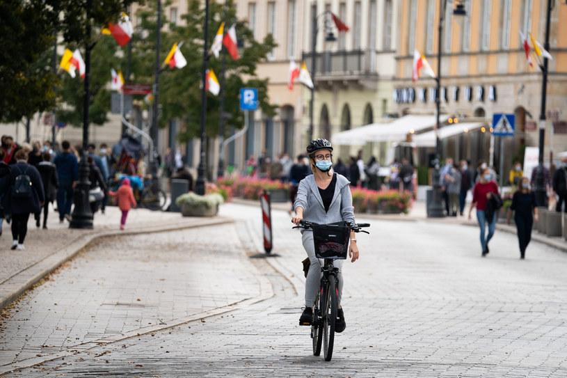 Ulice Warszawy w czasie epidemii /Jakub Wosik  /Reporter