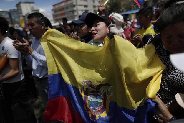 Uliczne protesty w Ekwadorze /PAP/EPA