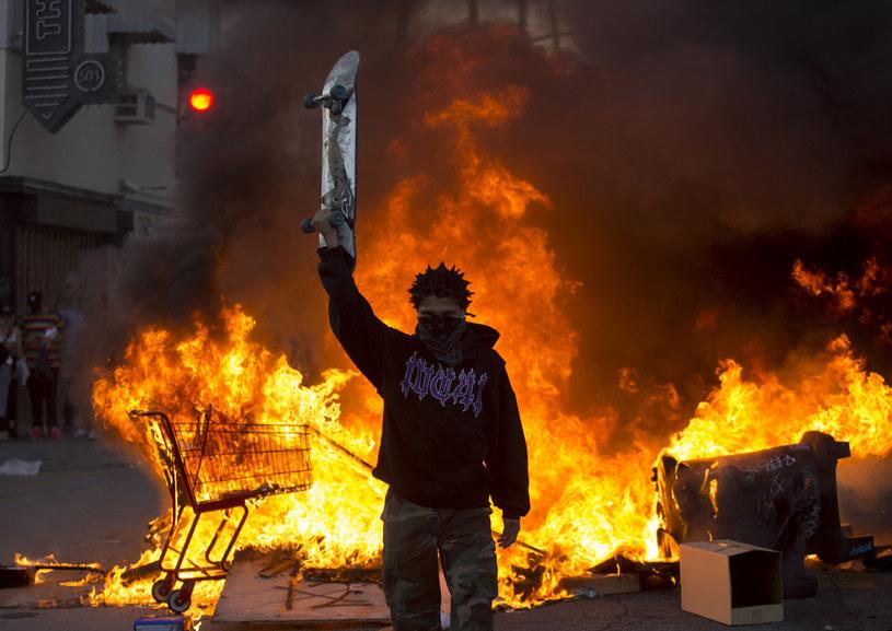 Uliczne protesty w Los Angeles po śmierci George'a Floyda /EastNews