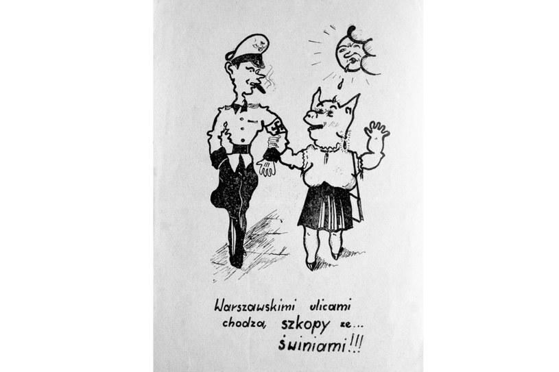 Ulotka z 1942 roku piętnująca intymne relacje Polek z okupantem /East News