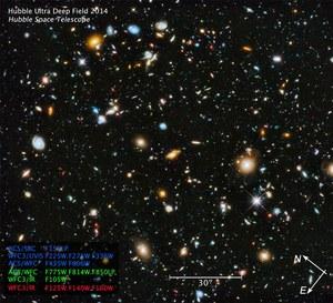 Ultrafioletowa część Ultra Głębokiego Pola Hubble'a