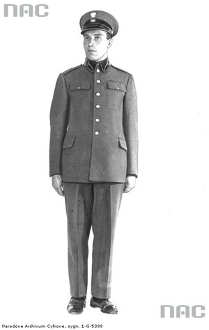 Umundurowanie pracownika poczty, 1934 /Z archiwum Narodowego Archiwum Cyfrowego