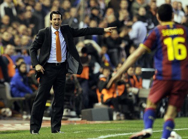 Unai Emery znakomicie ustawił Valencię przeciw Barcelonie. /AFP
