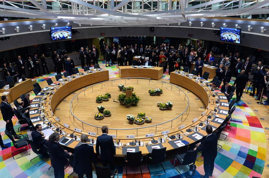 Unijni przywódcy rozmawiają o ewentualnym opóźnieniu brexitu w Brukseli /ARIS OIKONOMOU/POOL AFP /PAP/EPA