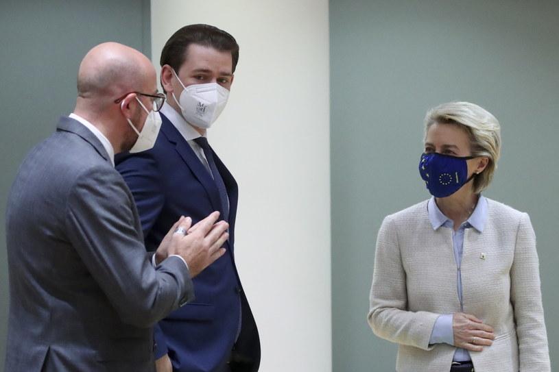 Unijni przywódcy zdecydowali o sankcjach na Białoruś /YVES HERMAN / POOL /PAP/EPA
