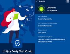 Unijny Certyfikat COVID - aplikacja dla Androida i iOS potwierdzi UCC