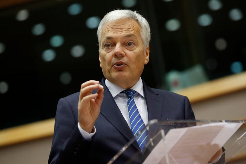 Unijny komisarz ds. sprawiedliwości Didier Reynders /AFP