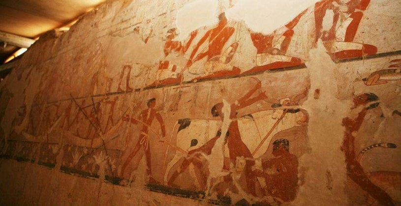 Unikalną cechą grobowca Hetpet są obrazy pokrywające jego ściany /materiały prasowe