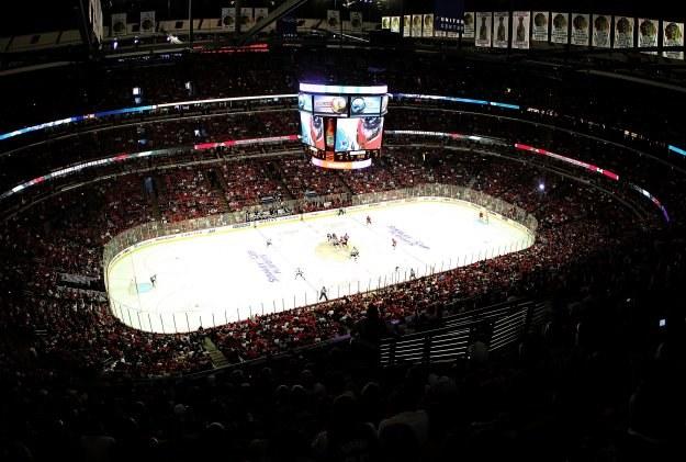 United Center w Chicago oszalało po awansie Blackhawks do finału Pucharu Stanleya /AFP