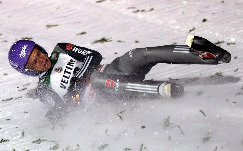 Upadek Andreasa Wellingera wyglądał koszmarnie /fot. Grzegorz Momot /PAP