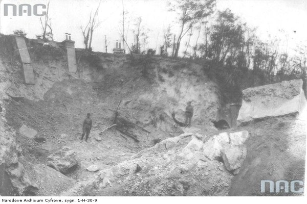 Walki austriacko-rosyjskie o Przemyśl - fragment zniszczonego fortu