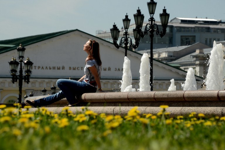 Upały w Moskwie /AFP