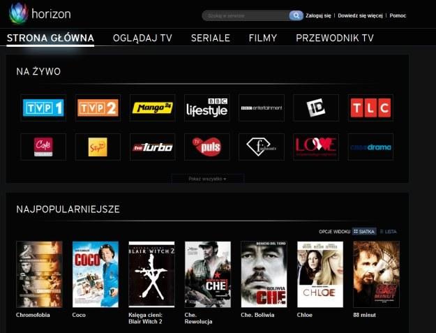 UPC wprowadza Horizon TV /materiały prasowe