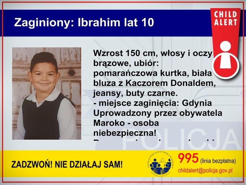 Uprowadzony 10-letni Ibrahim /Policja