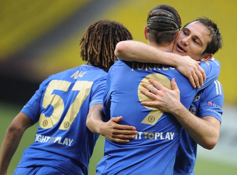 Uradowani Frank Lampard i Fernando Torres /AFP