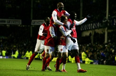 "Uradowani ""Kanonierzy"". Everton-Arsenal 1:4 /AFP"