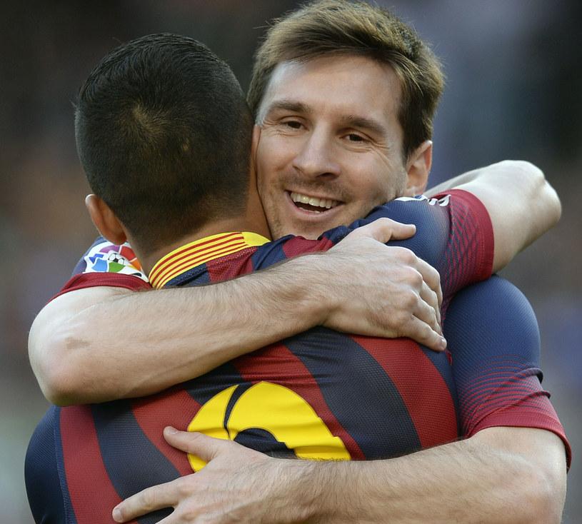 Uradowani Leo Messi i Alexis Sanchez /AFP