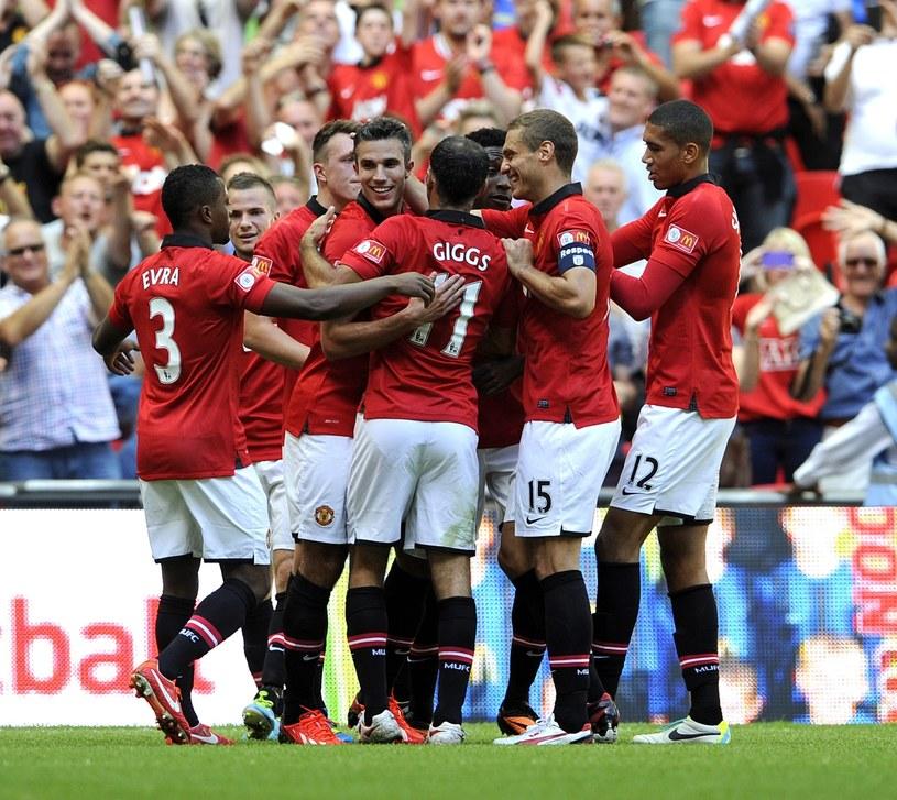 Uradowani piłkarze Manchesteru United /PAP/EPA