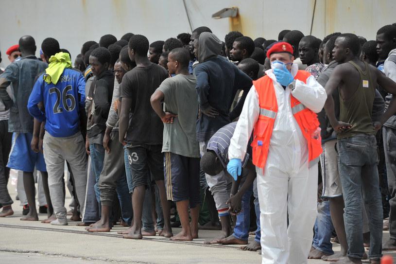 Uratowani imigranci /AFP