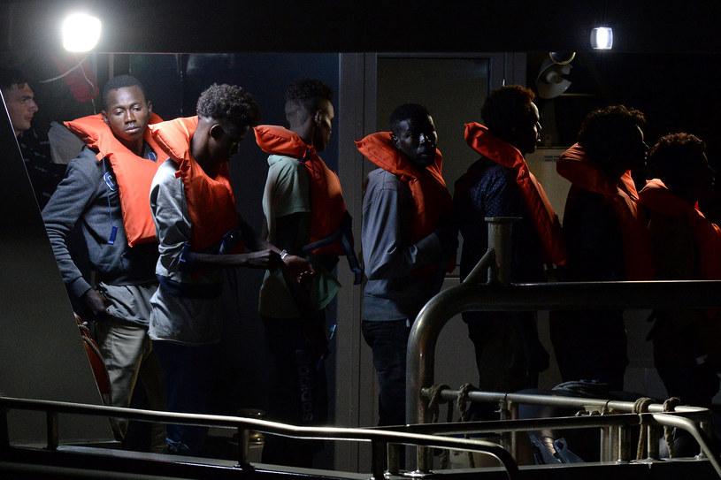 Uratowani na Morzu Śródziemnym migranci /AFP