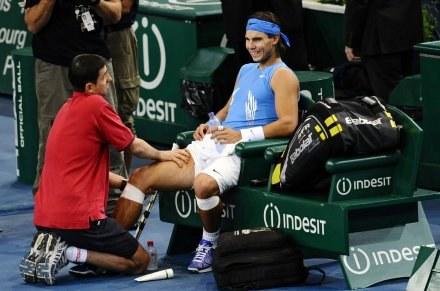 Uraz wykluczył Nadala z turnieju /AFP