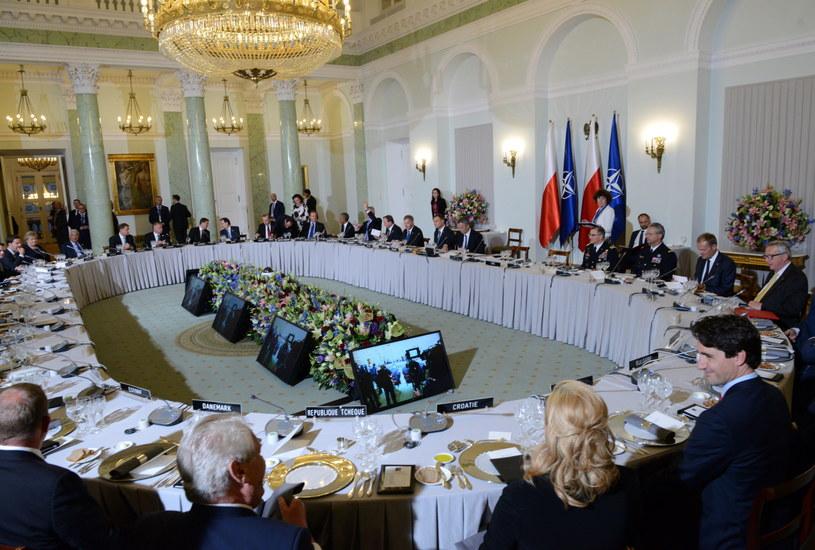 Uroczysta kolacja w Pałacu Prezydenckim /Jacek Turczyk /PAP