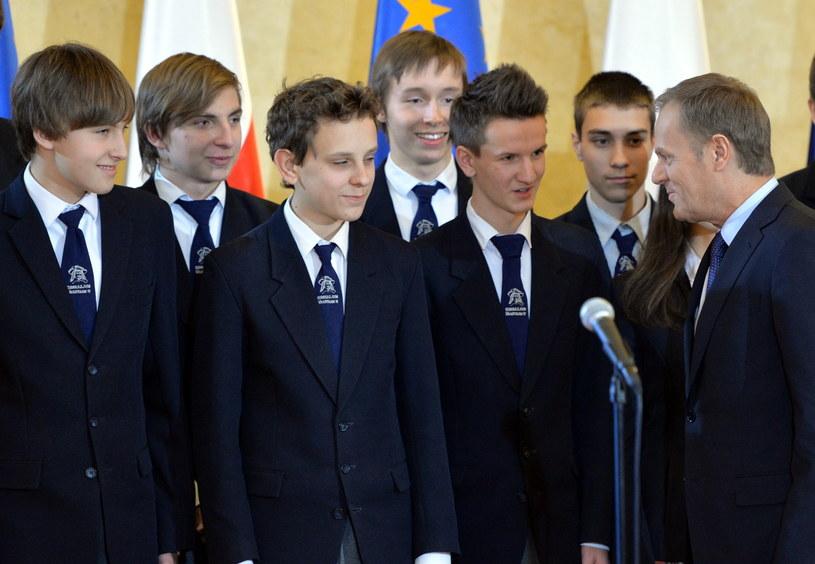 Uroczysta prezentacja polskich i światowych wyników Programu Międzynarodowej Oceny Umiejętności Uczniów (PISA 2012) /Radek Pietruszka /PAP