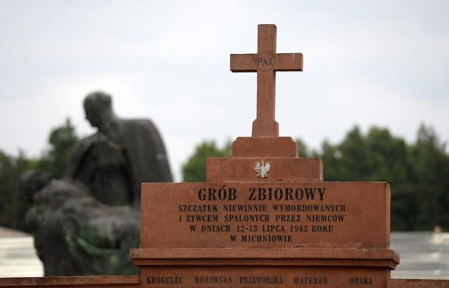 Uroczyste obchody 73. rocznicy pacyfikacji Michniowa odbyły się w Mauzoleum Martyrologii Wsi Polskich w Michniowie. /Piotr Polak /PAP