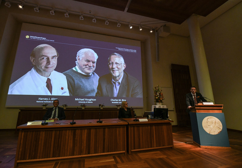 Uroczyste ogłoszenie lauteatów Nagrody Nobla z dziedziny medycyny /JONATHAN NACKSTRAND/AFP /AFP