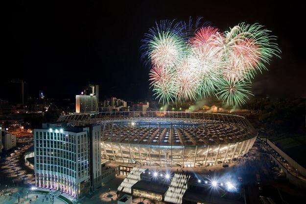 Uroczyste otwarcie Stadionu Olimpijskiego w Kijowie /AFP