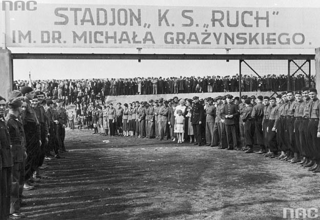 Uroczyste otwarcie stadionu sportowego w Hajdukach Wielkich /Z archiwum Narodowego Archiwum Cyfrowego