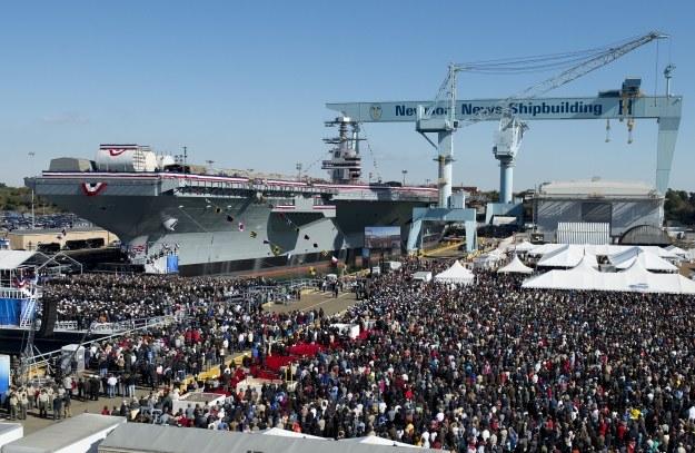 Uroczystość nadania nazwy.     Fot. Huntington Ingalls Shipyards /materiały prasowe