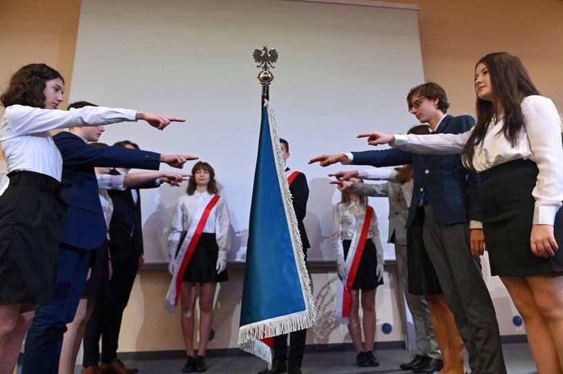 Uroczystość nadania Uniwersyteckiemu Liceum Ogólnokształcącemu imienia Pawła Adamowicza, połączone z ceremonią ślubowania klas pierwszych /Jan Dzban /PAP