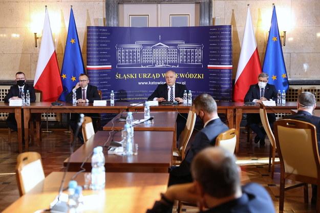 Uroczystość podpisania umowy społecznej ws. transformacji górnictwa /Andrzej Grygiel /PAP