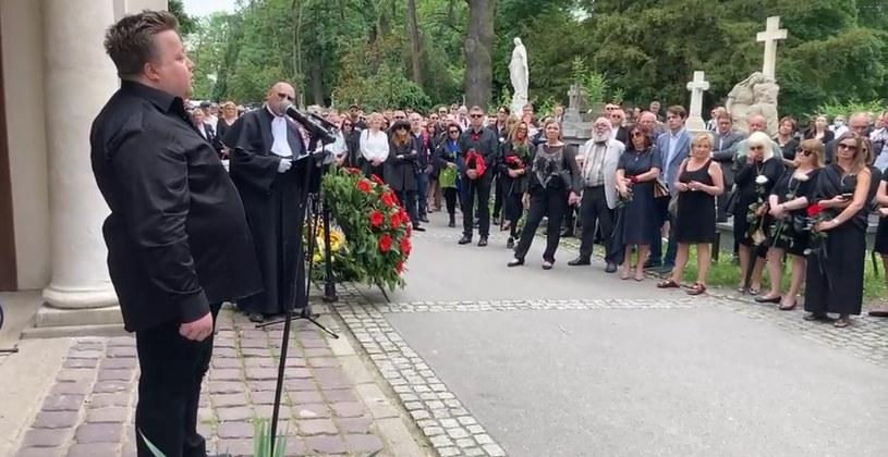 Uroczystość pogrzebowa Andrzeja Bieniasza na Cmentarzu Rakowickim /