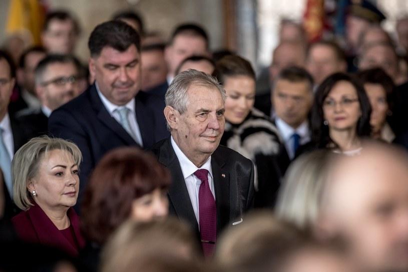 Uroczystość ślubowania prezydenta Zemana /Martin Divisek /PAP/EPA