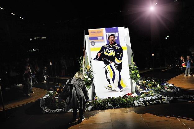 Uroczystość upamiętniająca Stefana Liva w  hali w Joenkoping. /AFP