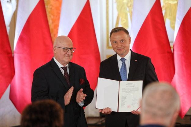 Uroczystość wręczenia prezydentowi RP uchwały PKW ws. stwierdzenia wyniku wyborów prezydenckich. /Wojciech Olkuśnik /PAP