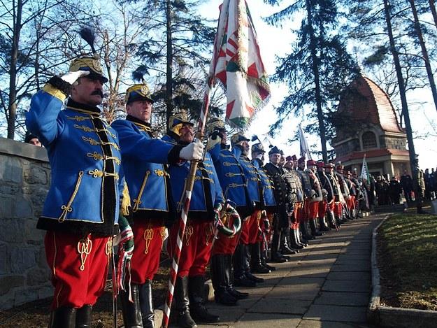 Uroczystości na cmenatrzu na wgórzu Jabłoniec z okazji 100. rocznicy bitwy pod Limanową /Małgorzata Żyłko /INTERIA.PL