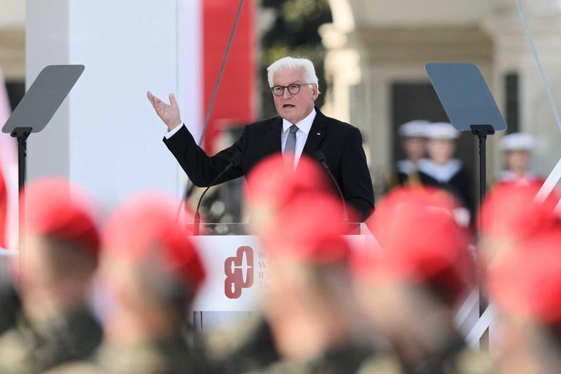 Uroczystości na Placu Piłsudskiego. Przemówienie prezydenta Niemiec /Leszek Szymański /PAP