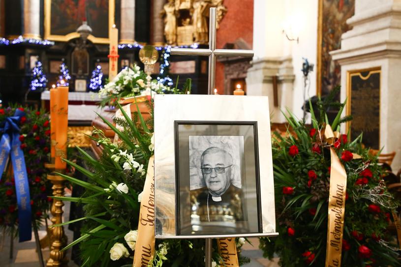 Uroczystości pogrzebowe bp. Tadeusza Pieronka, Kraków, 3 stycznia 2019 /fot. Beata Zawrzel/REPORTER /East News